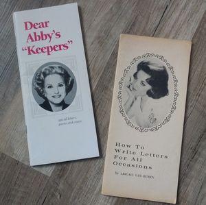 Vintage Dear Abby Books 60s 90s